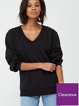 v-by-very-oversized-v-neck-slouchy-sweat-black