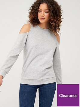 v-by-very-washed-cold-shoulder-sweat-grey