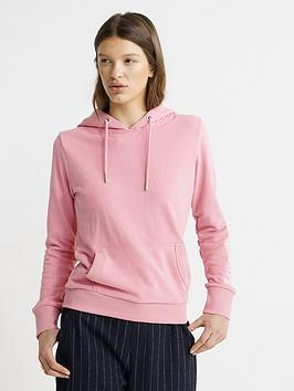 Superdry Superdry Embroidered Sleeve Entry Hoodie - Pink Picture