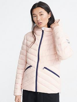 Superdry Superdry Long Sleeve Essentials Helio Padded Jacket - Peach Picture