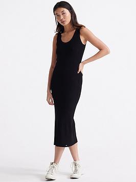 Superdry Superdry Sahara Knit Midi Split Dress - Black Picture