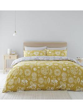 Catherine Lansfield Catherine Lansfield Retro Birds Duvet Cover Set Picture