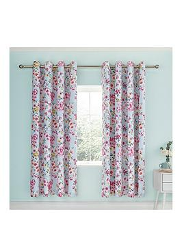 Catherine Lansfield Catherine Lansfield Flower Patchwork Eyelet Curtains Picture