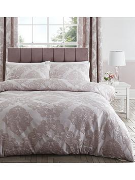 Catherine Lansfield Catherine Lansfield Rococo Damask Jacquard Duvet Cover  ... Picture