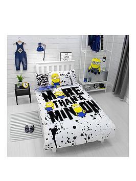 Minions Minions Spray Single Duvet Cover Set Picture