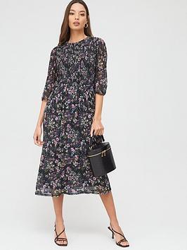 oasis-gami-print-pleated-blouse-dress-multinbsp