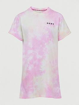 DKNY SPORT Dkny Sport Tie Dye T-Shirt Dress - Pink Picture
