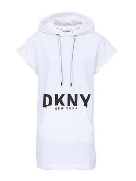 DKNY SPORT Dkny Sport Logo Hooded Sweater Dress - White Picture