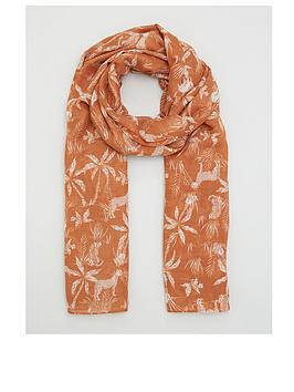 v-by-very-safari-print-scarf-rust