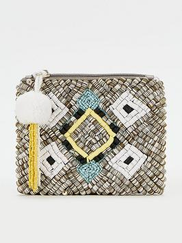 V by Very V By Very Embroidered Sequin Zip Purse - Multi Picture