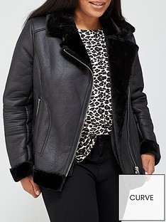v-by-very-curve-faux-shearling-biker-jacket-black