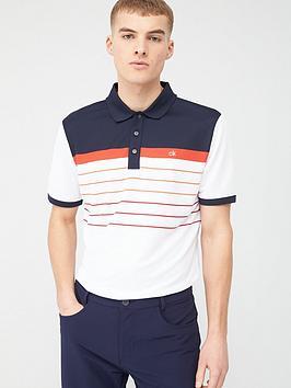 Calvin Klein Calvin Klein Golf Gradient Polo Shirt - White/Navy Picture
