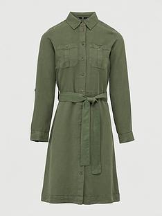 v-by-very-ultimate-button-through-midi-dress-khaki