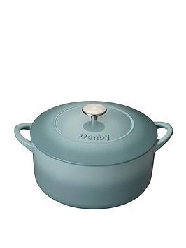 Denby   Pavilion 26 Cm Cast Iron Casserole Dish