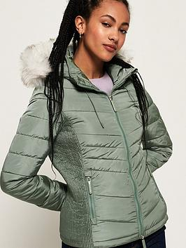 Superdry Superdry Luxe Fuji Jacket - Turquoise Picture