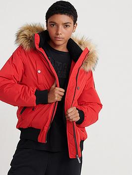 Superdry Superdry Microfibre Bomber Jacket - Red Picture