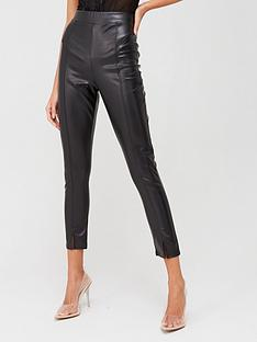 boohoo-boohoo-split-front-pu-leggings-black