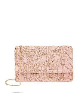 Accessorize Accessorize Sequin Floral Clutch - Pink Picture