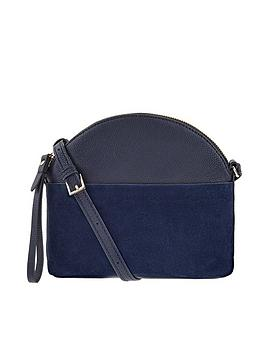 Accessorize Accessorize Leather Danie Dome Cross Body Bag - Navy Picture