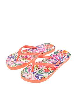 Accessorize   Painterly Floral Eva Flip Flops - Multi