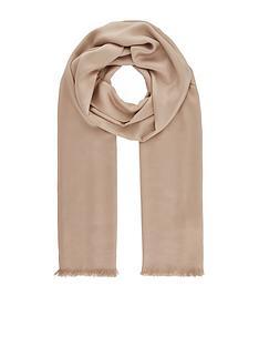 accessorize-plain-woven-scarf-champagne