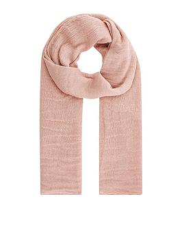 Accessorize   All Over Metallic Scarf - Pink