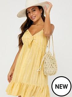 accessorize-tie-front-stripe-short-dress-yellownbsp