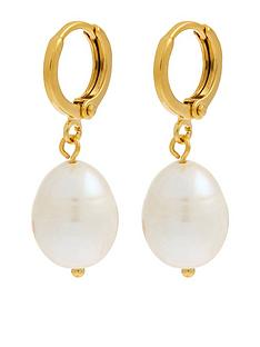 accessorize-z-irregular-pearl-drop-huggie-earrings-nude