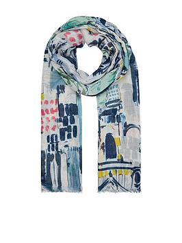 Accessorize Accessorize Tuscany Illustrated Scarf - Multi Picture