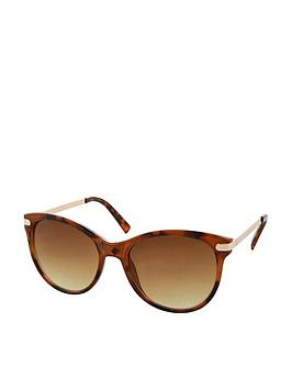 Accessorize Accessorize Rubee Flat Top Sunglasses - Brown Picture