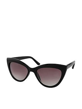 Accessorize   Ava Classic Cateye Sunglasses - Black