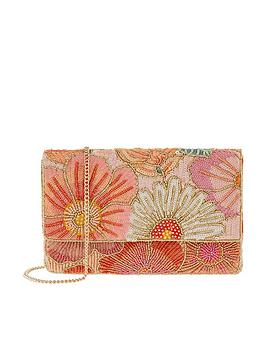 Accessorize Accessorize Kimmy Floral Beaded Clutch - Multi Picture