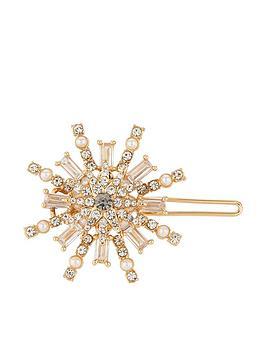 Accessorize   Starburst Baguette Clip - Crystal