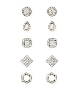 Accessorize   5 X Glamazon Stud Pack