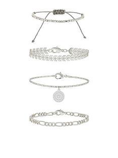 accessorize-4-x-detailed-chains-friendship-set-silver