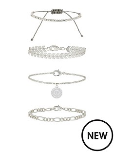 accessorize-4-x-detailed-chains-friendship-set-silver