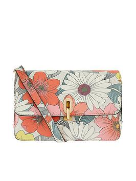 Accessorize   Floral Print Cross Body - Multi