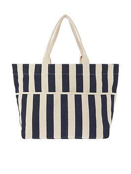 Accessorize Accessorize Woven Stripe Tote Bag - Navy Picture