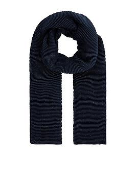 Accessorize   Glitter Pleated Scarf - Navy