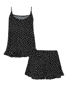 Accessorize Accessorize Spot Print Vest And Shorts Set - Black Picture