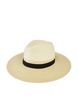 Accessorize   Mono Chic Braid Fedora - Natural