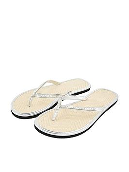 Accessorize   Crystal Seagrass Flip Flops