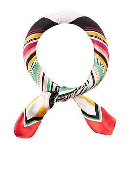 Accessorize   Keka Abstract Square Scarf - Multi
