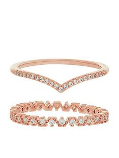 accessorize-z-x2-wishbone-sparkle-ring-set-rose-gold