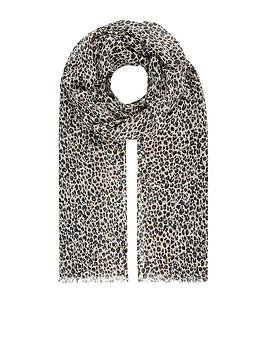 Accessorize   Ditsy Scarf Opp - Leopard Print