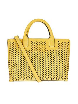 Accessorize   Cut Out Handheld Bag - Yellow