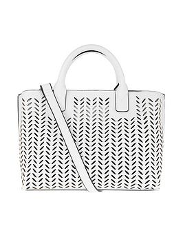 Accessorize   Cut Out Handheld Bag - White