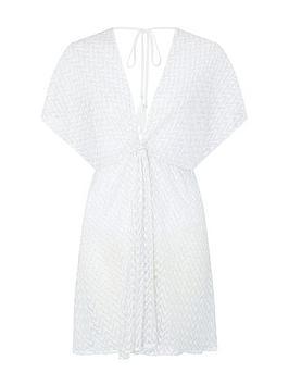Accessorize Accessorize Shimmer Lace Twist Kaftan - White Picture