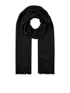 accessorize-plain-woven-scarf-black