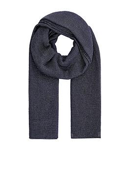Accessorize   All Over Metallic Scarf - Navy
